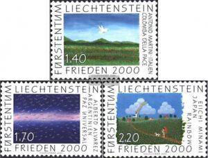 Liechtenstein-1238-1240-kompl-Ausg-gestempelt-2000-Frieden-2000