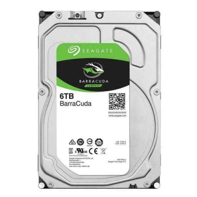 "Seagate BarraCuda 6TB 3.5"" SATA Internal Hard Drive HDD 5400RPM ST6000DM003"