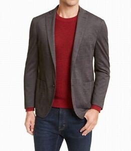Michael Kors Mens Sport Coat Charcoal Gray Size 44 Long Notch Slim Fit $295 348