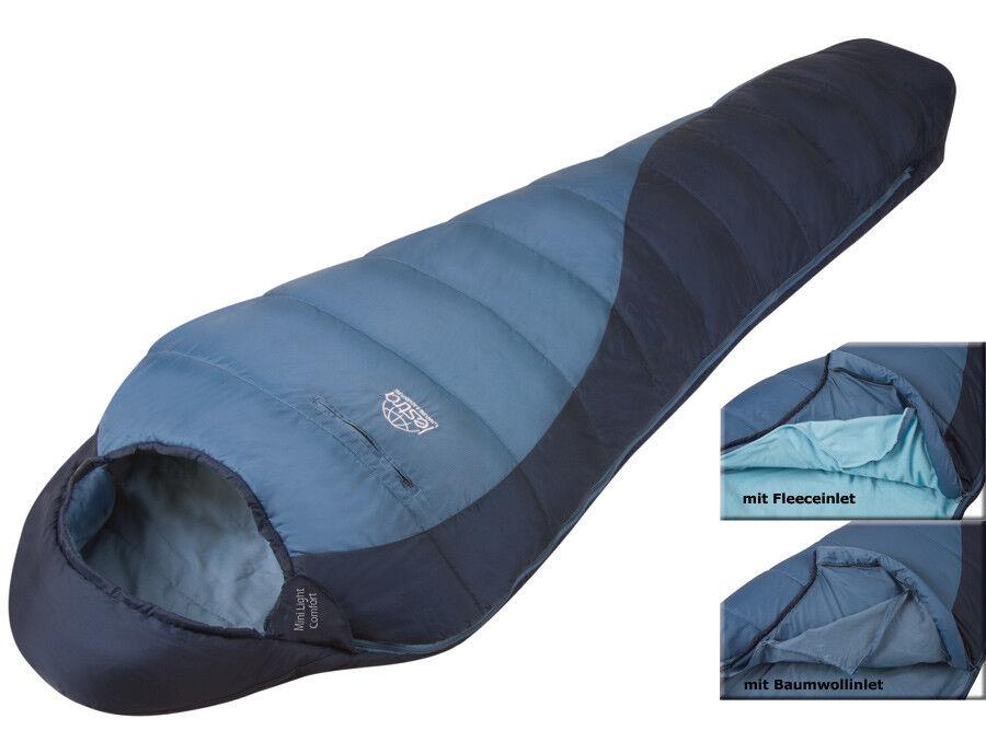 Lestra Mini Light Comfort Sleeping Bag Trekking Mummy incl. 2 x Inlet