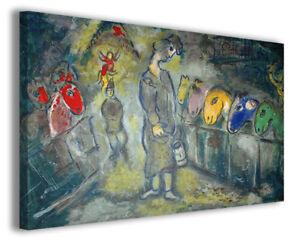 Quadri famosi moderni Marc Chagall vol XI stampa su tela canvas ...