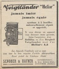 Z9172 Appareil Heliar VOIGTLANDER -  Pubblicità d'epoca - 1929 Old advertising