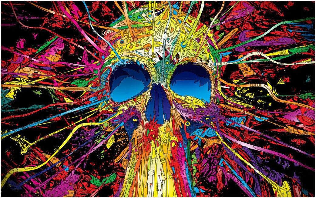 a buon mercato Deluxe Jigsaw Puzzle 1000 1000 1000 Piece Flappy Skull Huuomo Skeleton Painting YC1154  incentivi promozionali