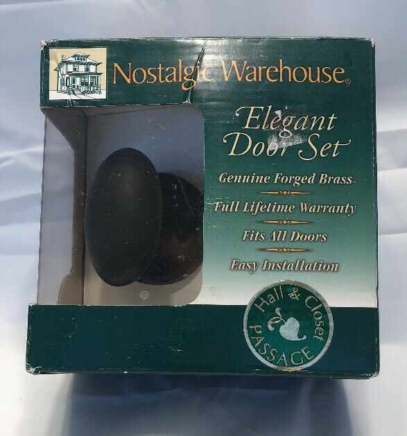 2.25 Mortise Oil-Rubbed Bronze Nostalgic Warehouse Classic Rosette with Homestead Door Knob