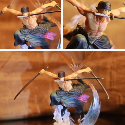 Anime One Piece 14cm Roronoa Zoro Battle Ver PVC Action Figure Model Toys.