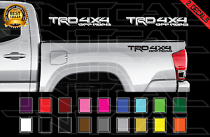 TRD 4x4 Off Road Toyota Tacoma Decal Set Truck Bed Vinyl Stickers X2 16-20