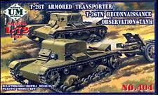 UM-MT Models 1/72 Soviet T-26T ARMORED TRANSPORT or T-26TN RECONNAISSANCE TANK