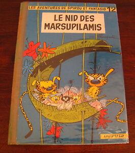 SPIROU-ET-FANTASIO-LE-NID-DES-MARSUPILAMIS-FRANQUIN-NO-12-EO-1960-BON-ETAT
