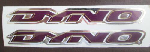 Set of 2 Vintage GT DYNO Stickers //bmx //PURPLE//WHITE//GOLD//CHROME FREE SHIPPING