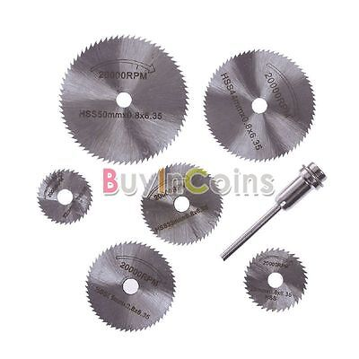 6PCS Rotary Tool Circular Saw Blades Cutting Discs For Dremel Cutoff New BAAU