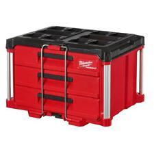 Milwaukee Packout Tool Box 3 Drawer Lockable Impact Resitant Body Polypropylene