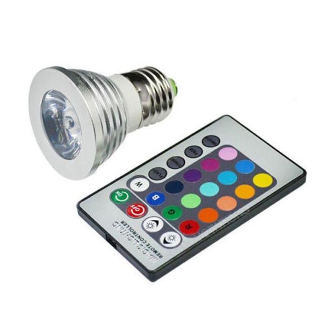 Energy saving E27 3W RGB LED Bulb Lamp light 16 Color changing + IR Remote I