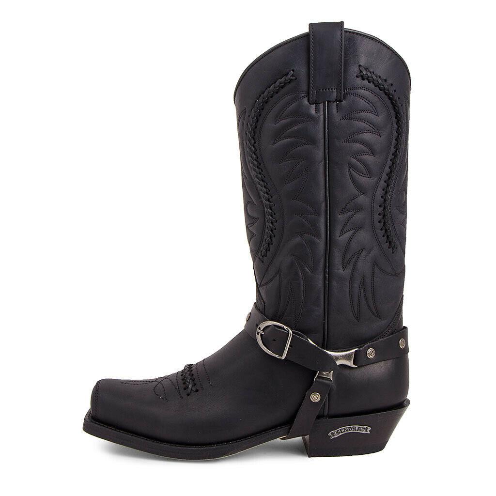 3434 Sendra Boots Western Black Mens Womens