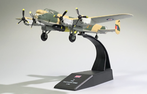 New-1-144-WWII-UK-Lancaster-Dam-Bustter-With-Bomb-Bomber-Aircraft-3D-Alloy-Model