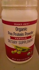Trader Joe's Organic Pea Protein Powder Vanilla Dietary Supplement Amino Acids