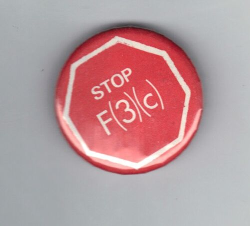 1980 CELLULOID BUTTON STOP F RULE DEMOCRATIC CONVENTION Ted Kennedy c 3