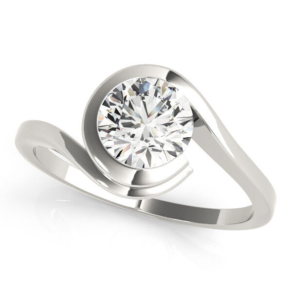 Sale 0.90 Ct Diamond Engagement Ring Jewelry Solid 14K