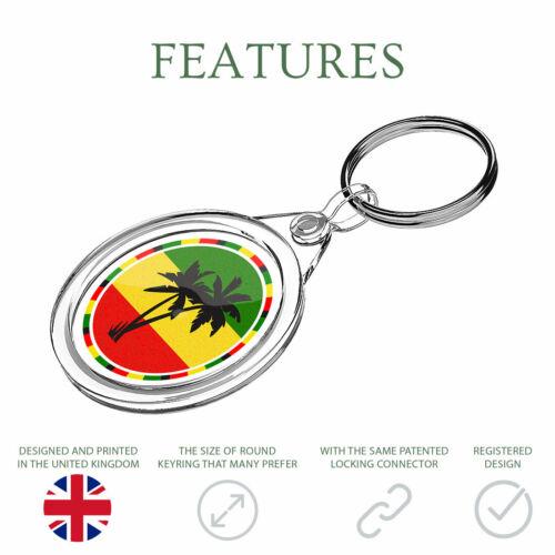 1 x Jamaïque Rasta Palm Tree-Porte-clés IR02 Maman Papa Anniversaire Enfants Cadeau # 5649