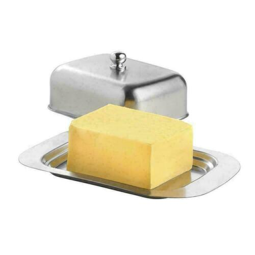 Stainless Steel Butter Dish Box Holder Kitchen Fridge Lid with Stor S1H2 FG C9Q9