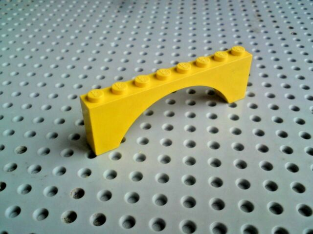 Lego Arch 1x8x2 [3308] - Yellow x1; ideal for castles!