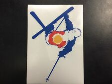 Colorado Skier Flag Sticker