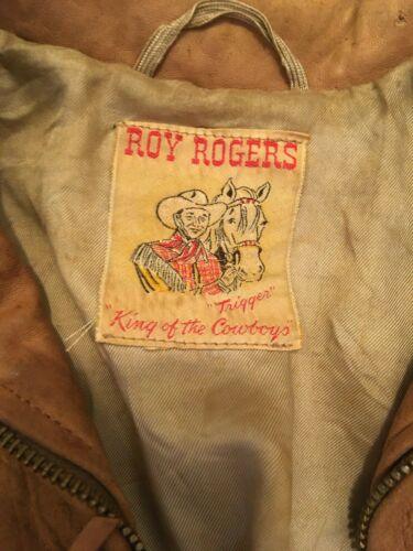 Vintage 1950s Roy Rogers Boys Western Buckskin Lea