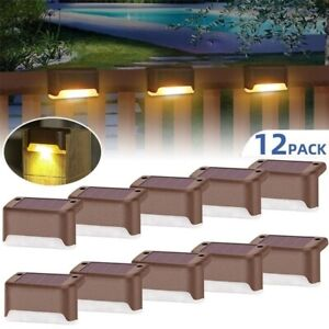 Solar Powered LED Deck Light Step Stairs Patio Fence Lamp Waterproof Path Garden