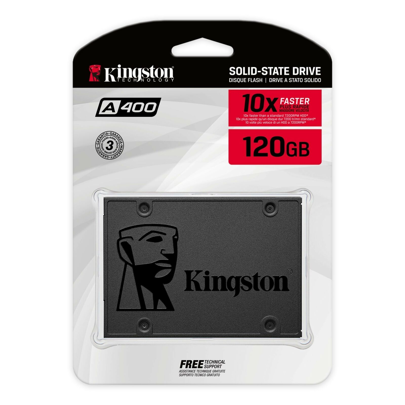 "Kingston 120GB 240GB 480GB 960GB SSD SATA 3.0 III 2.5"" Solid State Drive A400. Buy it now for 29.99"