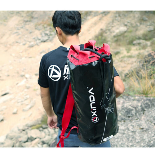Rescue Climbing Rope Bag Outdoor Mountaineering Rappelling Rope Backpack