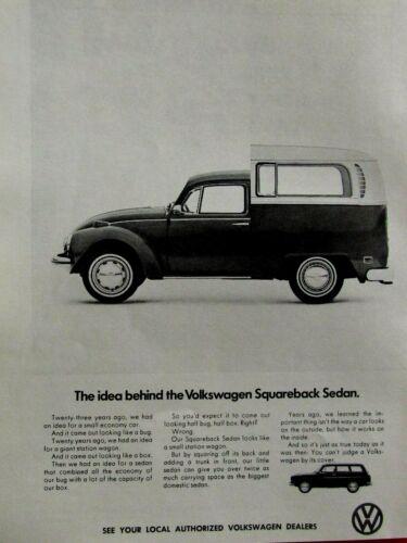 "1971 Volkswagen Squareback Sedan The Idea Original Print Ad 8.5 x 11/"""