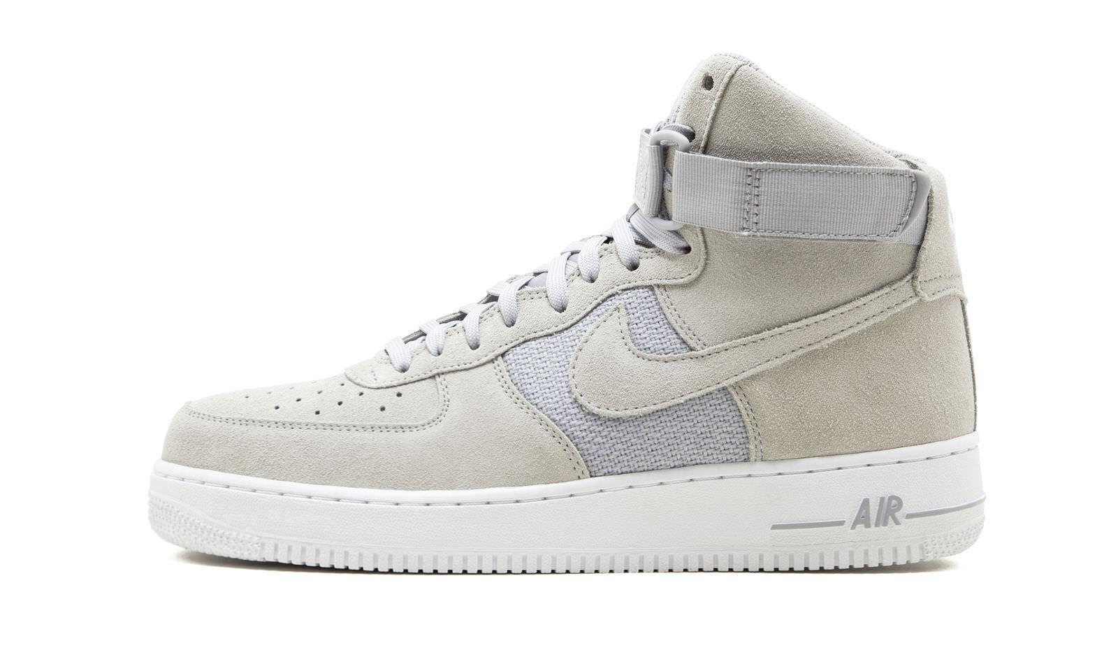 Gli uomini sono nike air force di alto 2007 scarpe taglia grigio bianco platino 315121 041