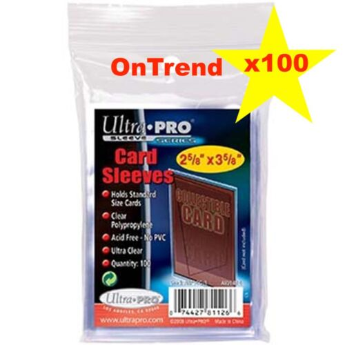100ct Ultra Pro Trading Card Protector Sleeves Penny Pokemon AFL MTG CLEAR Packs