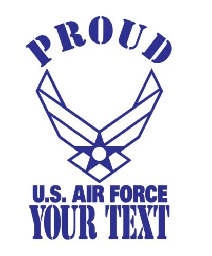 PROUD US AIR FORCE MILITARY FAMILY VINYL CAR DECAL
