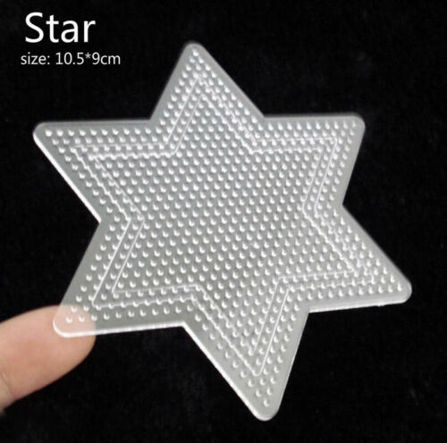 1pc Square Round Star Heart Perler Hama Beads Peg Board Pegboard for 2.6mm Fuse