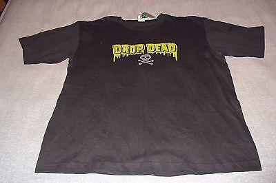 Drop Dead Skull and Cross Bones T-Shirt Mens XL | eBay Drop Dead Clothing History