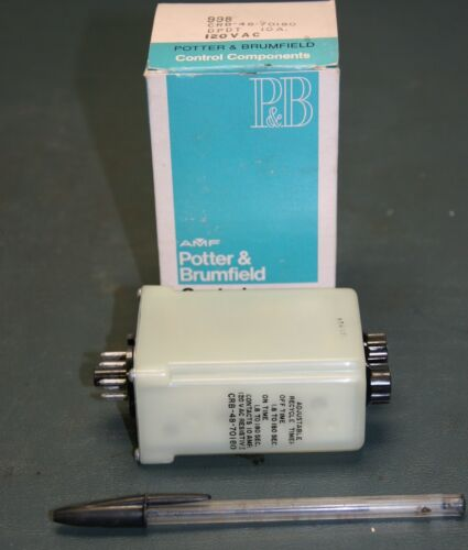 Potter /& Brumfield Time Delay Relay 1.8-180sec CRB-48-70180