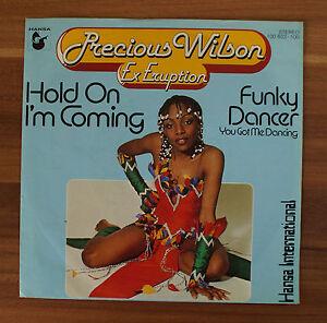 Single-7-034-VINYL-Precious-Wilson-ex-eruzione-hold-On-I-039-m-Coming-funky-dancer