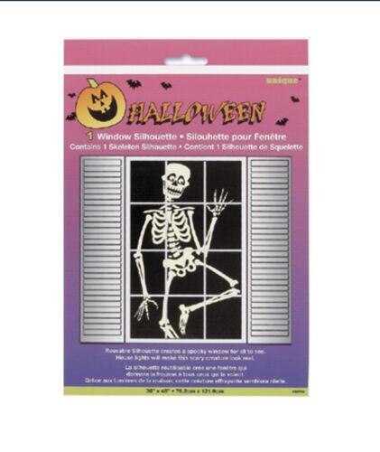 "HALLOWEEN Window SILHOUETTE Skeleton 30""X48"" Decoration PARTY"