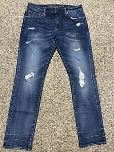 AE-AMERICAN-EAGLE-OUTFITTERS-SLIM-STRAIGHT-EXTREME-FLEX-4-MEN-039-S-JEANS-34X34