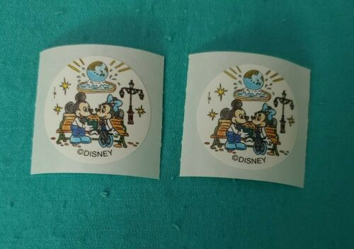 TDL Mickey /& Minnie Mouse Lot of 2 Official Tokyo Disney Resort Stickers