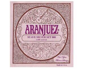 Aranjuez classical guitar strings Suave Silver set Low Gauge 800