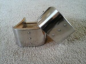 """Stainless 4"""" MONEL BELL STIRRUPS USA MADE & EXCELLENT!"""