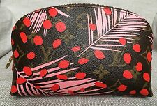 BNIB Authentic Louis Vuitton Monogram Pink Jungle Cosmetic Pouch