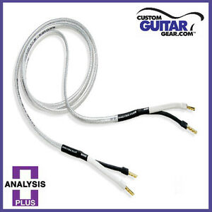 Analysis-Plus-034-Silver-Oval-Two-034-Speaker-Cables-12-Gauge-4ft-Length-PAIR