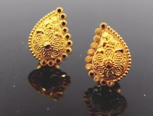7d306adce Image is loading 22K-22CT-SOLID-GOLD-GORGEOUS-FILIGREE-TOPS-EARRING-
