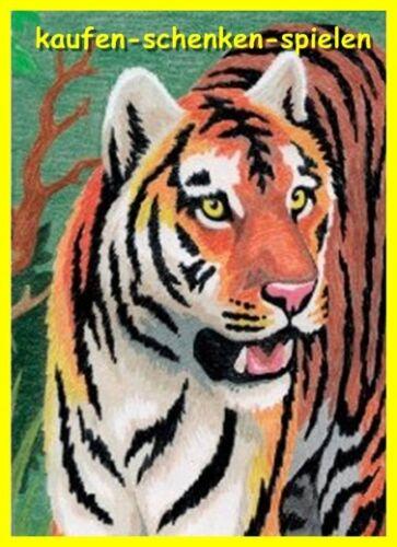 junger Tiger NEU Komplettset Mini Malen nach Zahlen mit Buntstiften