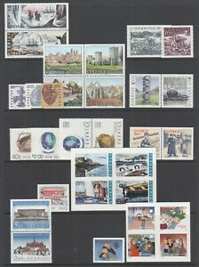 Sweden-Sc-2430-2449-MNH-2002-issues-9-complete-sets-fresh-bright-VF