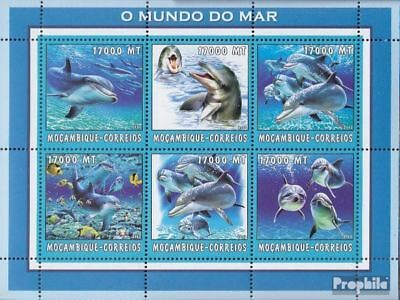 Never Hinged 2002 World Of Marine Stamps Mozambique 2692-2697 Sheetlet Unmounted Mint