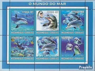 Stamps Mozambique 2692-2697 Sheetlet Unmounted Mint Never Hinged 2002 World Of Marine Stamps
