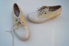 FINN COMFORT Damen Schuhe Schnürschuhe Gr.6 D/ 39,5 Leder mit Einlagen creme Neu